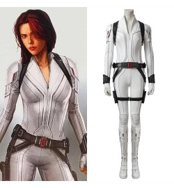 2020 Black Widow Cosplay Costume White Outfit