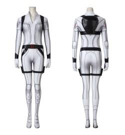 Black Widow Natasha Romanoff White 3D Jumpsuit