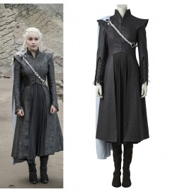 Game of Thrones 7 Daenerys Targaryen Cosplay Costume with Cloak