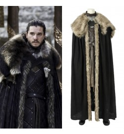 Game of Thrones 8 Jon Snow Cosplay Costume Deluxe