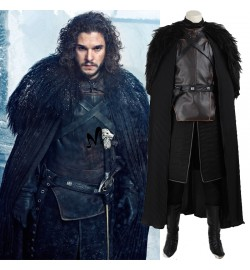 Game of Thrones Jon Snow Cosplay Costume Deluxe Version