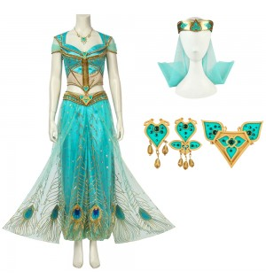 2019 Aladdin Princess Jasmine Cosplay Costume Deluxe Version