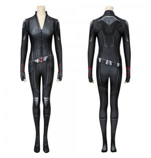 Avengers 4: Endgame Black Widow Natasha Romanoff Black 3D Jumpsuit