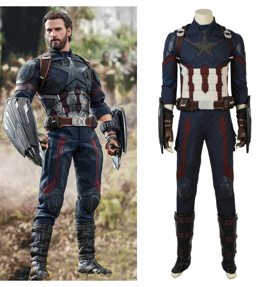 2018 Avengers Infinity War Captain America Cosplay Costumes