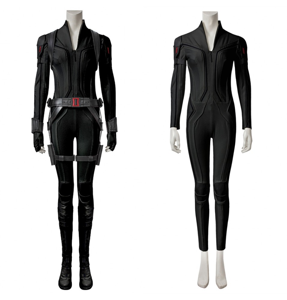 2020 Black Widow Cosplay Costume Black Outfit