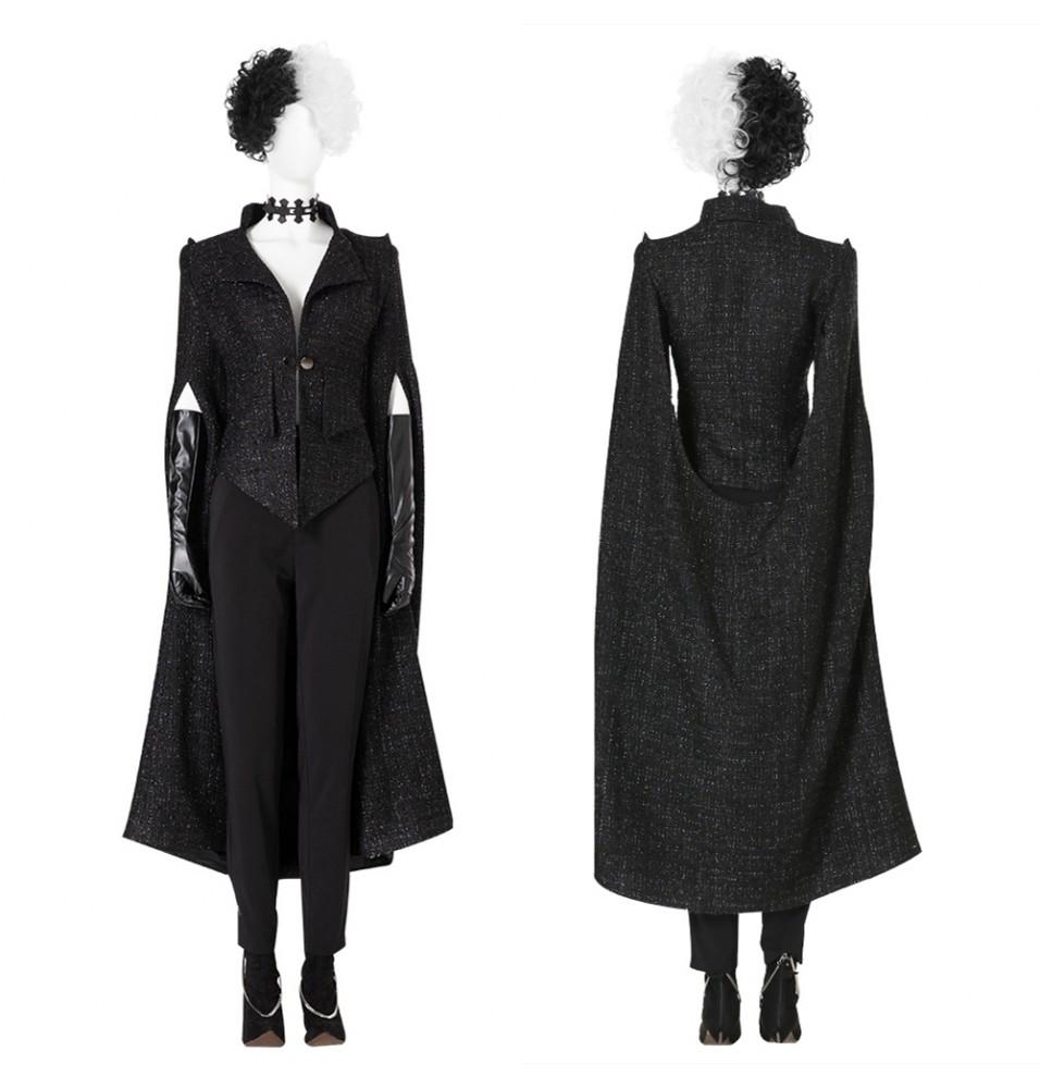 2021 Cruella de Vil Cruella Cosplay Costume Suit