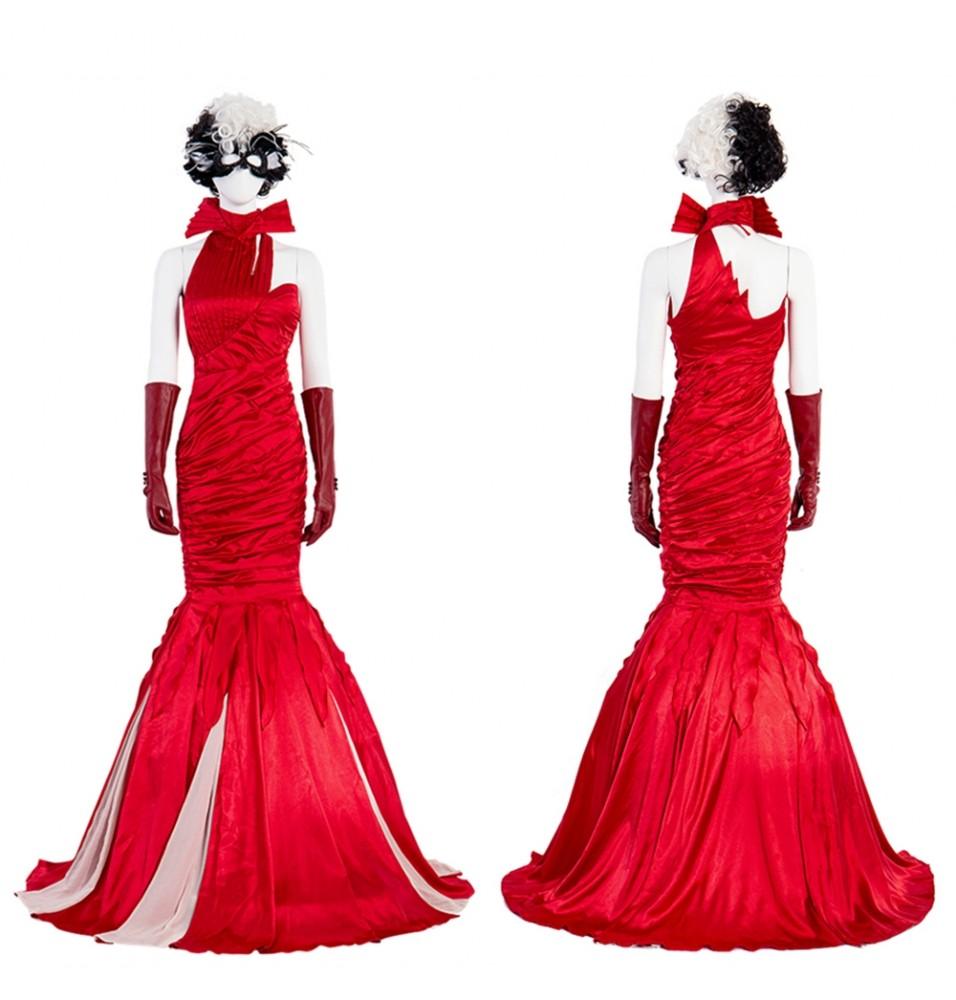 2021 Cruella de Vil Cruella Cosplay Dress