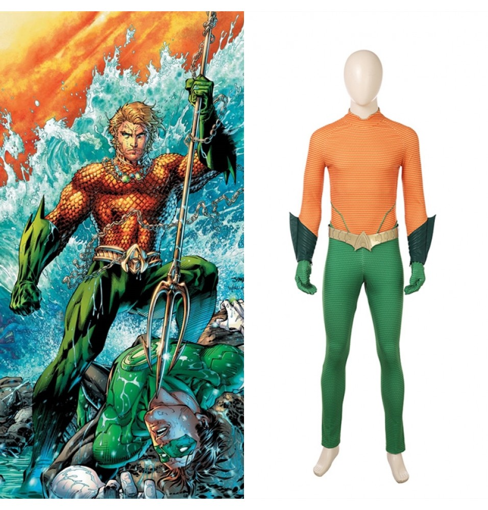 Aquaman Arthur Curry Cosplay Jumpsuit Costume