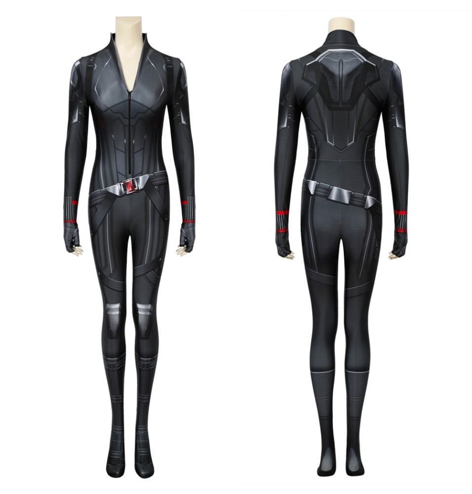 Avengers 4: Endgame Black Widow Natasha Romanoff Black 3D Jumpsuit