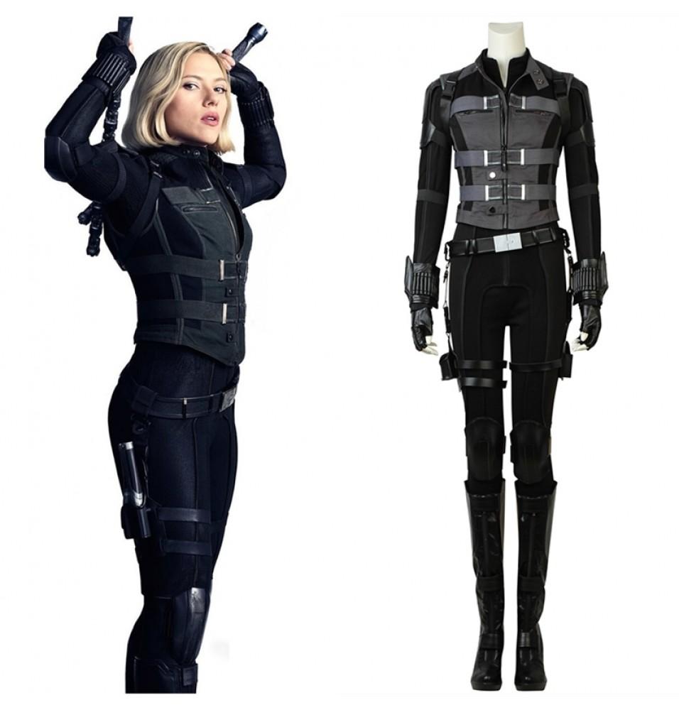 Avengers Infinity War Black Widow Cosplay Costume Natasha Romanoff Costume