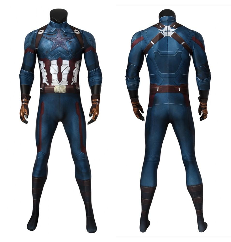 Avengers Infinity War Captain America 3D Jumpsuit