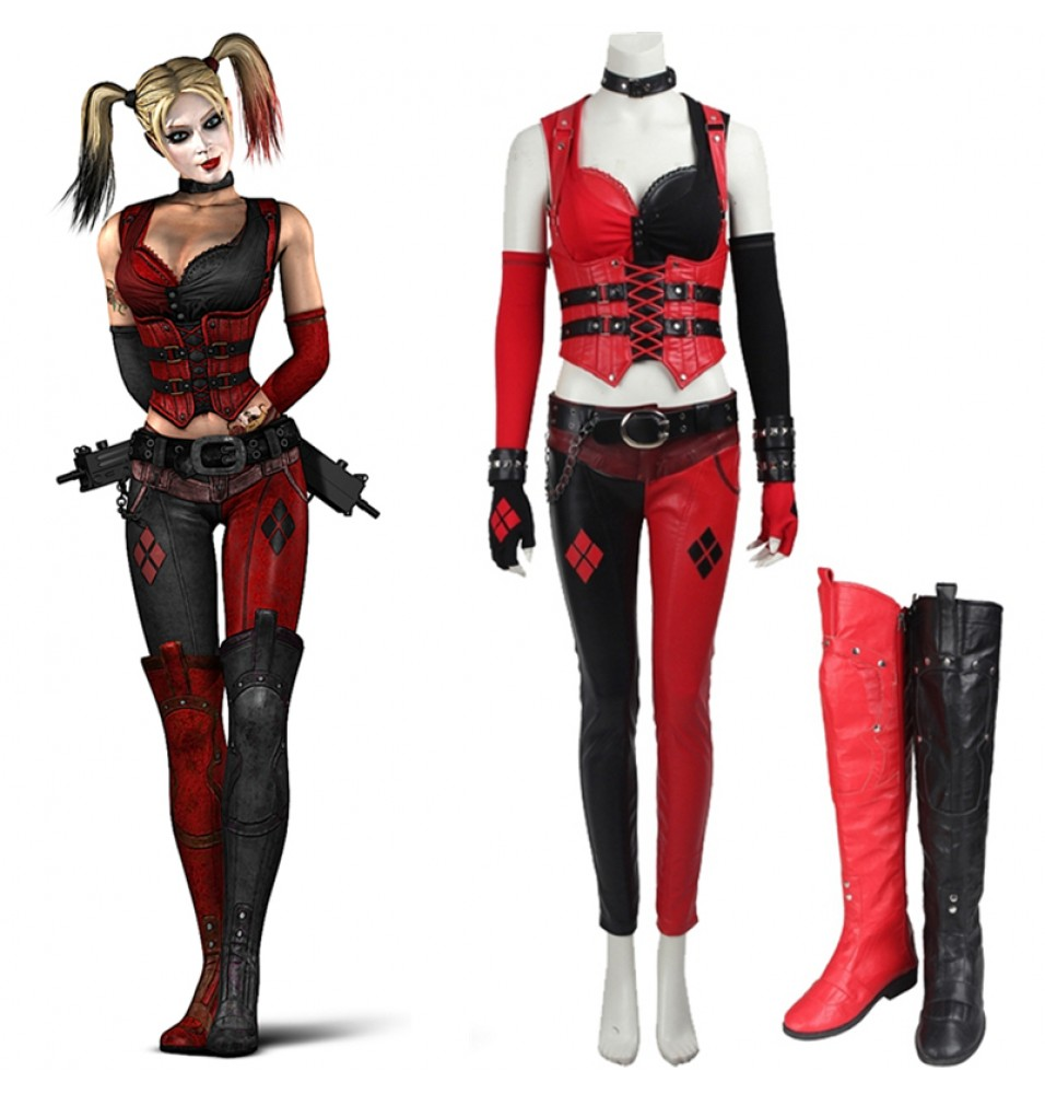 Batman Arkham City Harley Quinn Secret Wishes Cosplay Costume