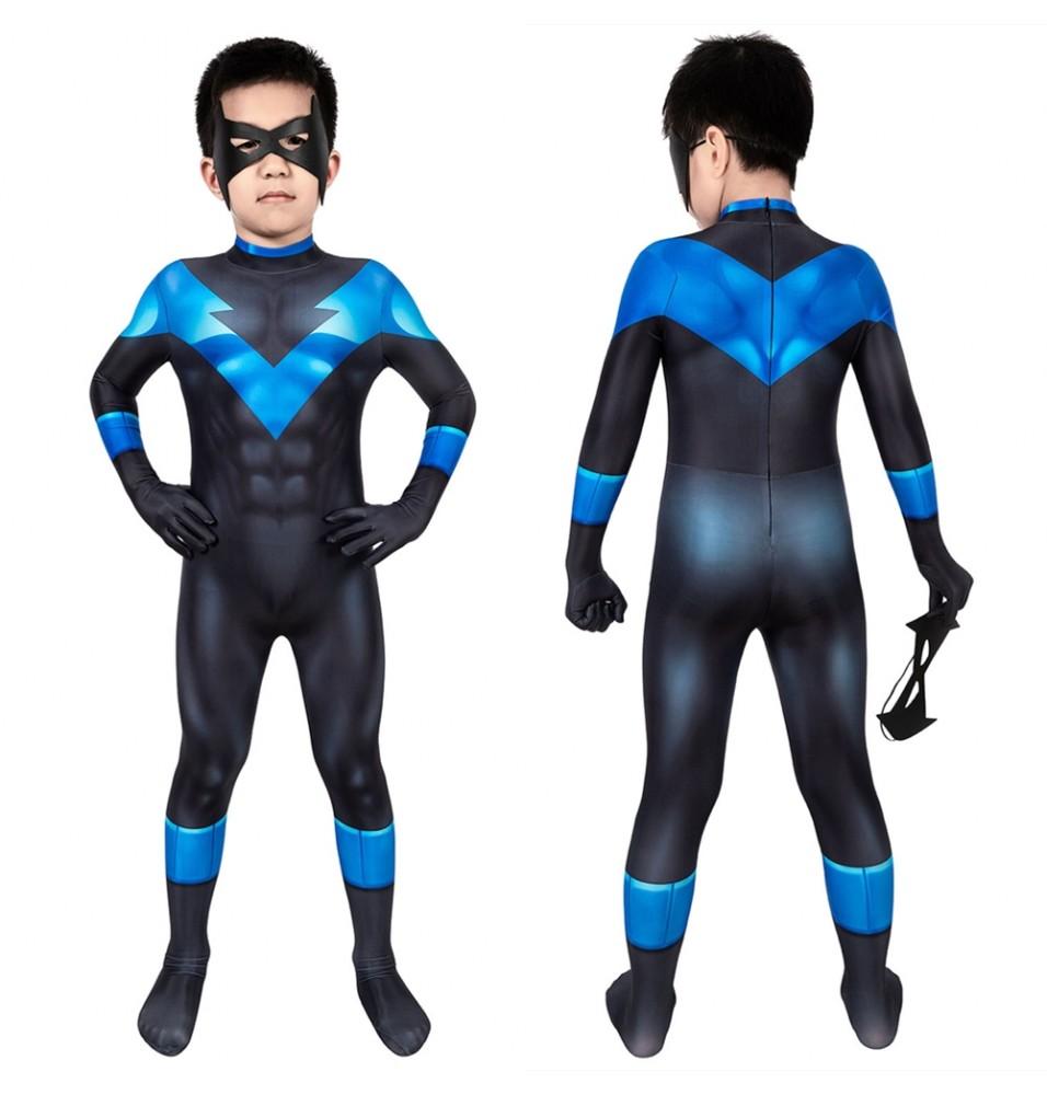 Batman: Under the Red Hood Nightwing Kids 3D Jumpsuit