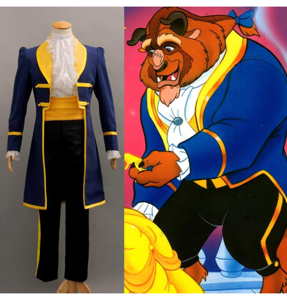 Disney Beauty and the Beast Prince Adam Cosplay Uniform Costume