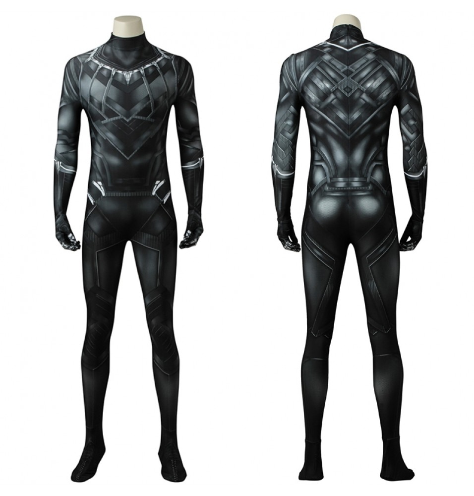Black Panther Cosplay Costume Civil War T'Challa Jumpsuit