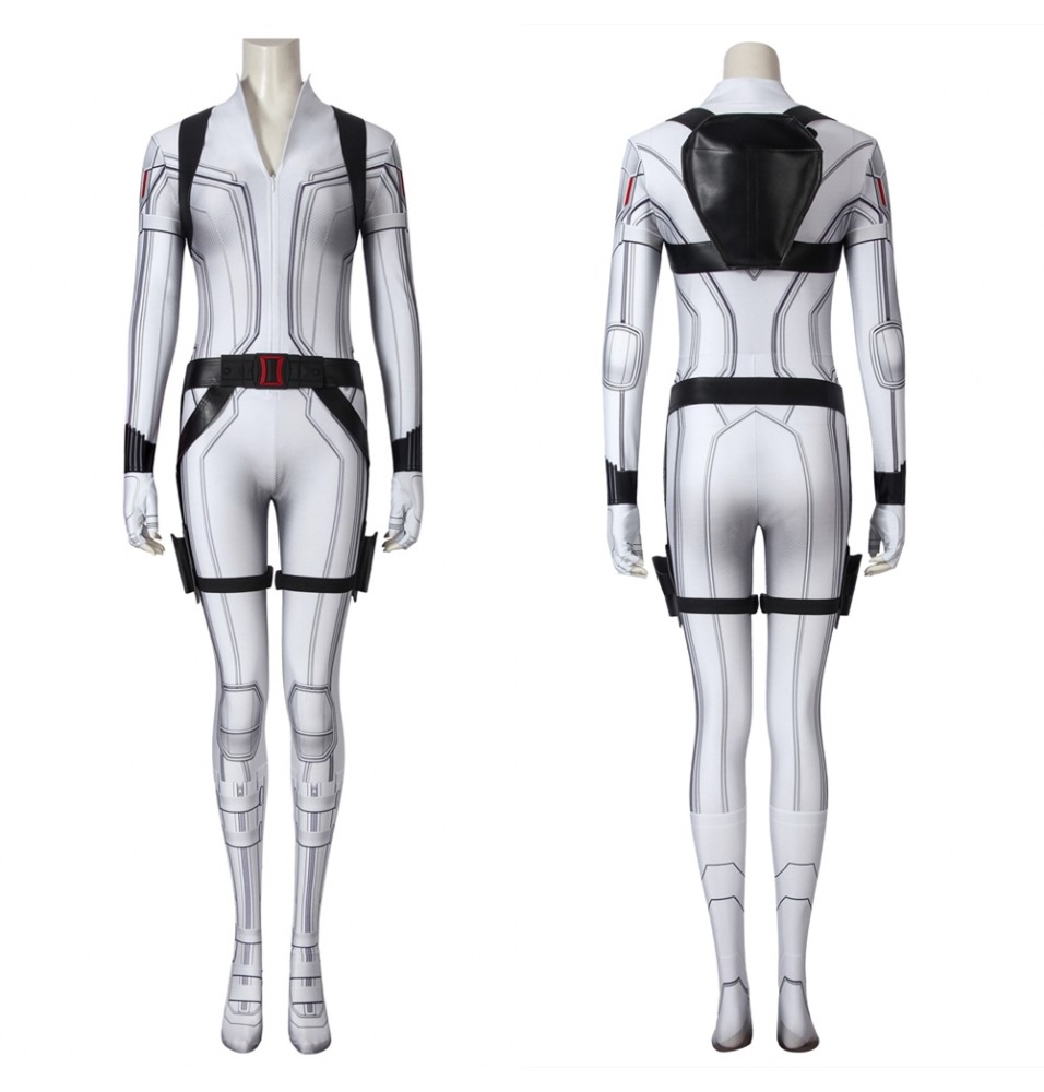 Black Widow Natasha Romanoff White 3D Jumpsuit