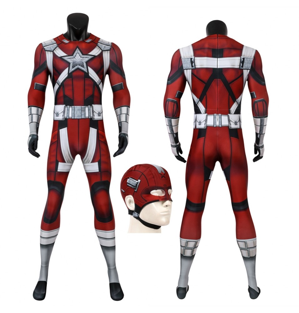 Black Widow Red Guardian 3D Printed Jumpsuit
