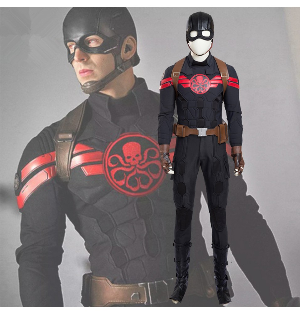 Captain America Hydra Agent Cosplay Costume Full Set Deluxe Costume