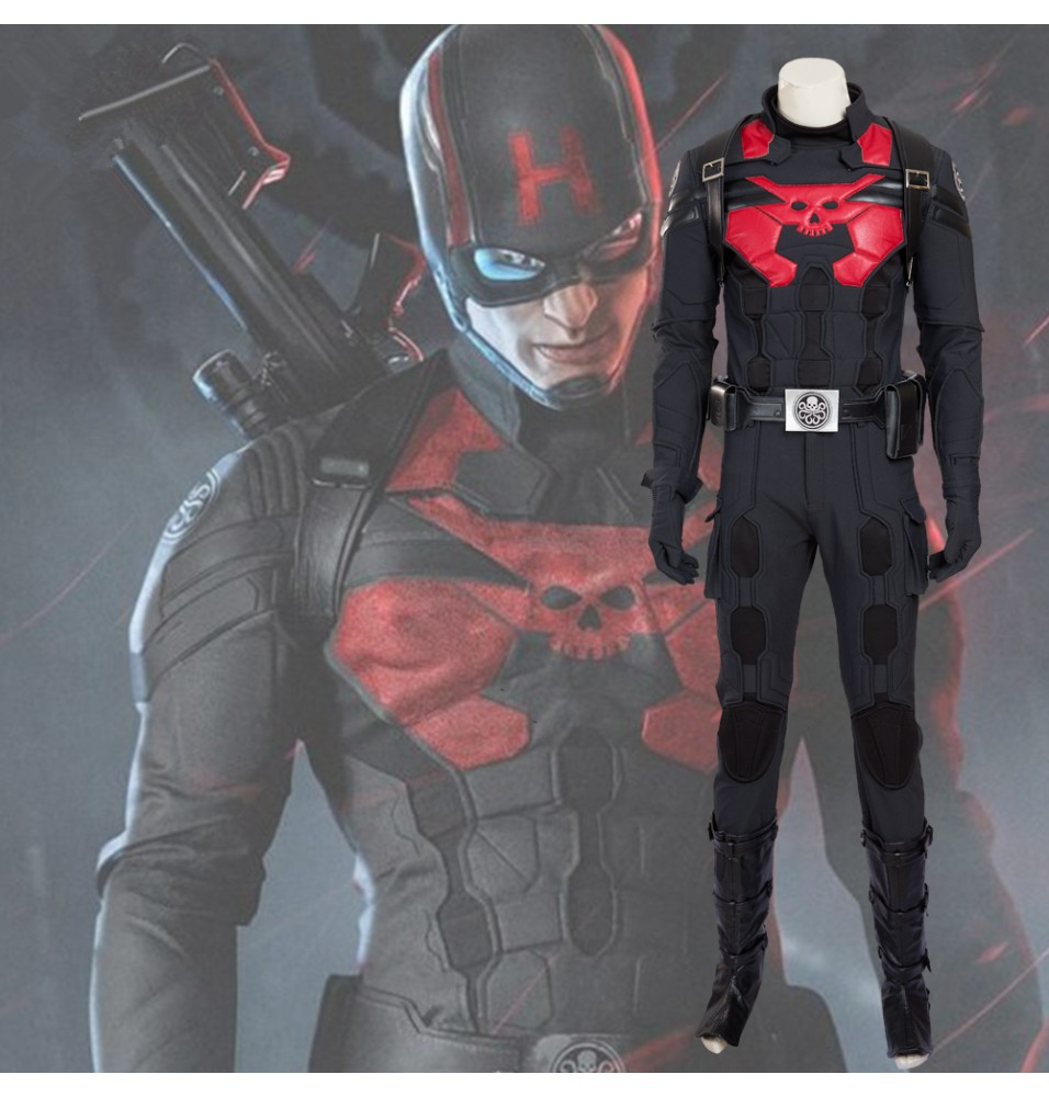 Captain America Hydra Agent Cosplay Costume Full Set - Deluxe Version