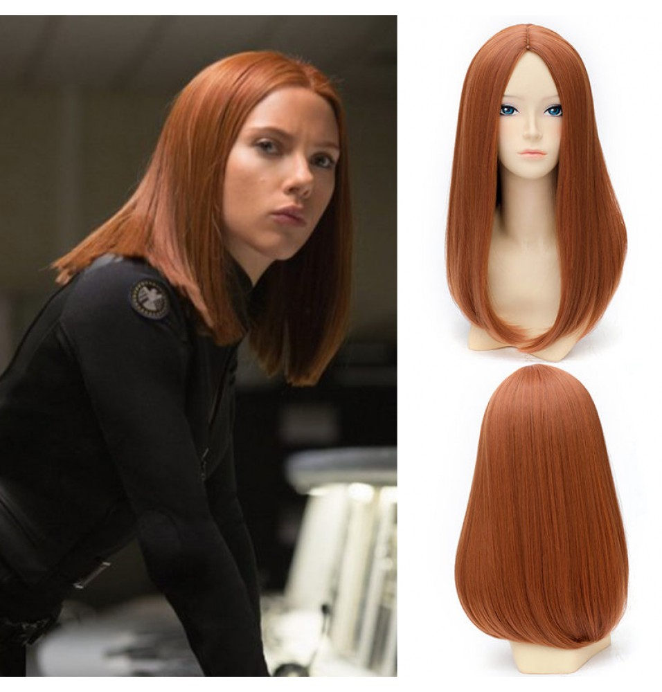 Captain America The Winter Soldier Black Widow Cosplay Wigs