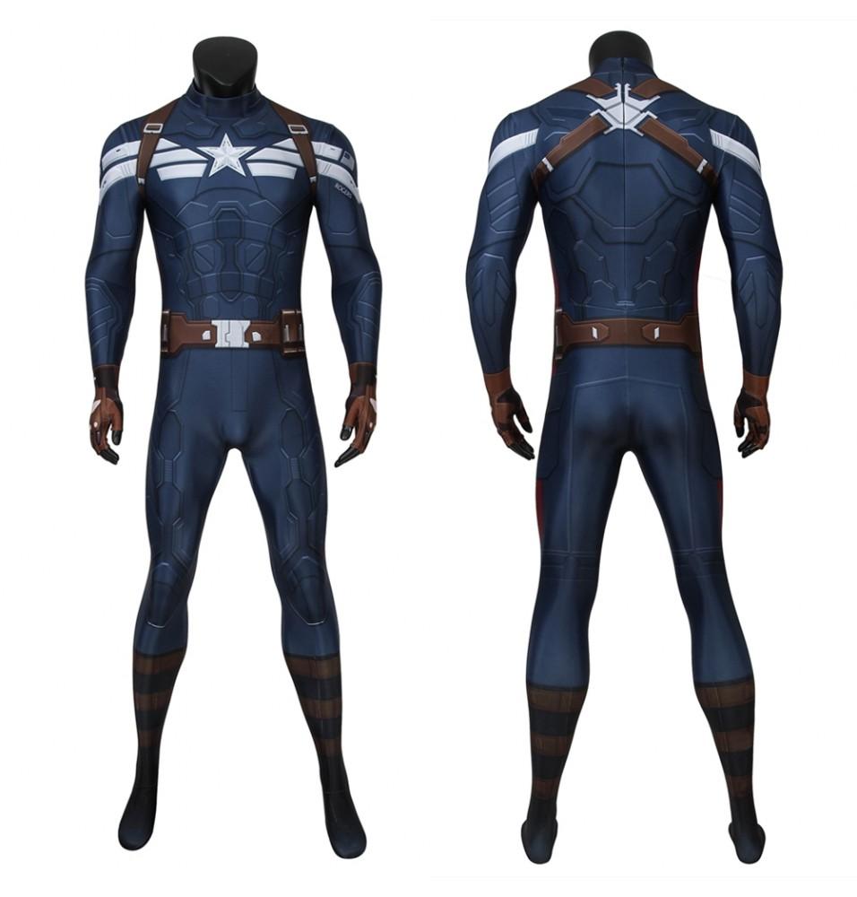 Captain America: The Winter Soldier Steve Rogers 3D Jumpsuit