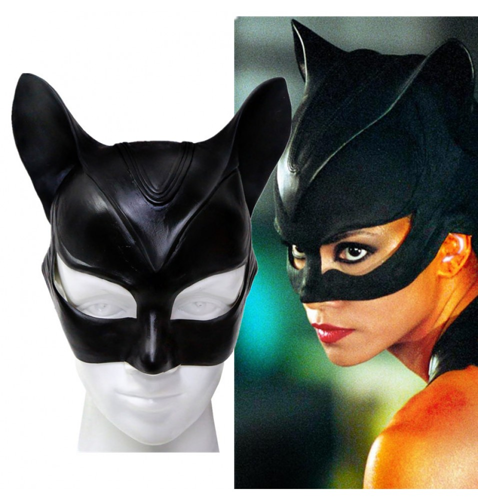 Catwoman Cosplay Latex Mask