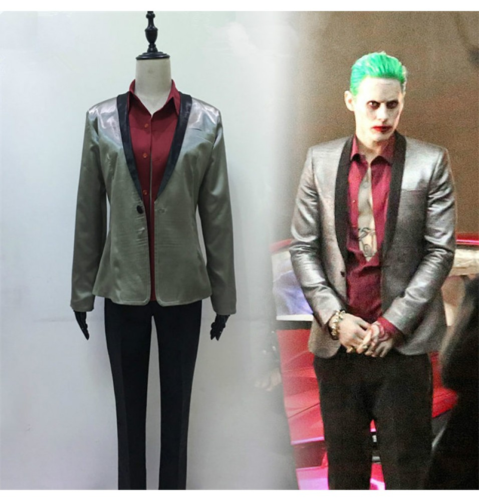 DC Movie Suicide Squad Joker Cosplay Costume Party Suit