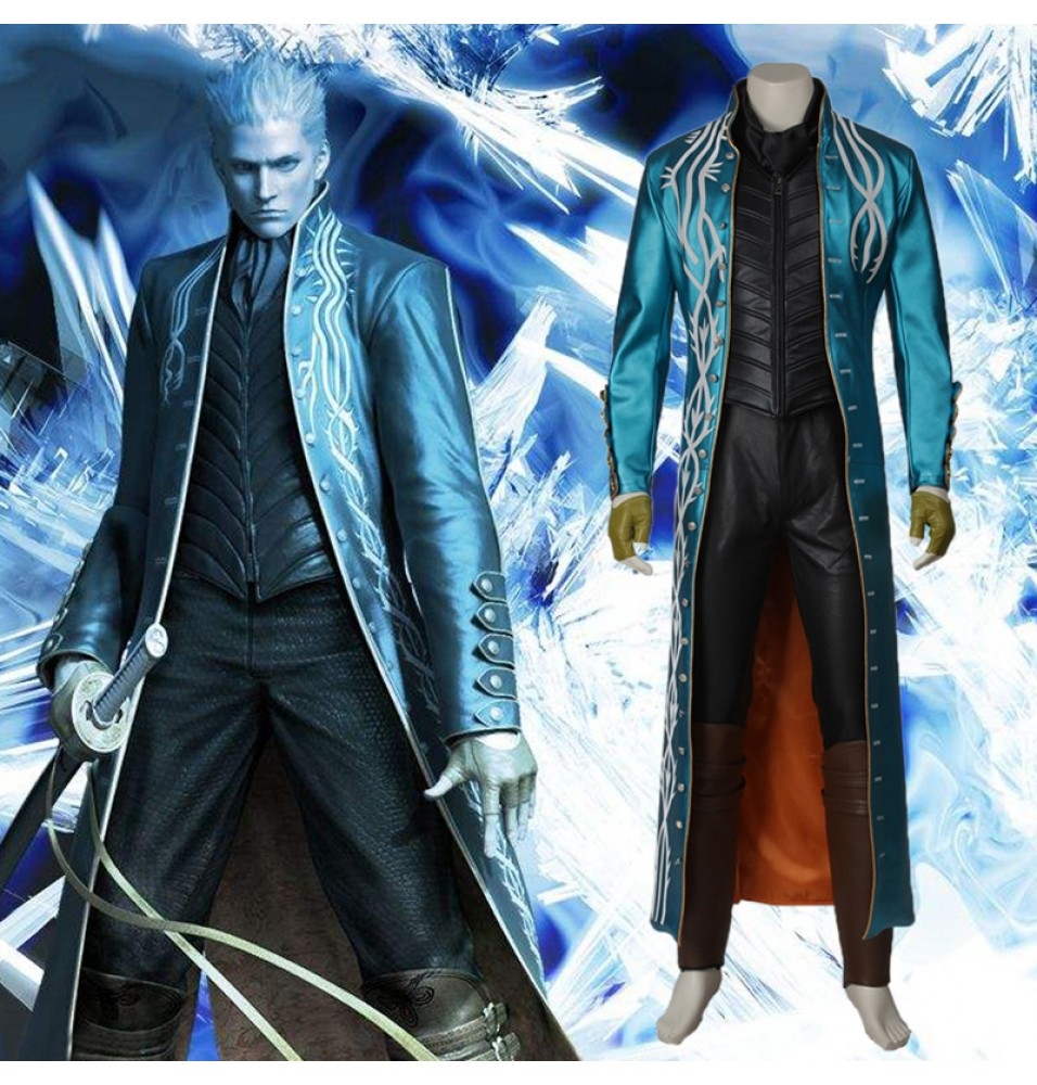 Devil May Cry 3 Vergil Cosplay Costume - Deluxe Version