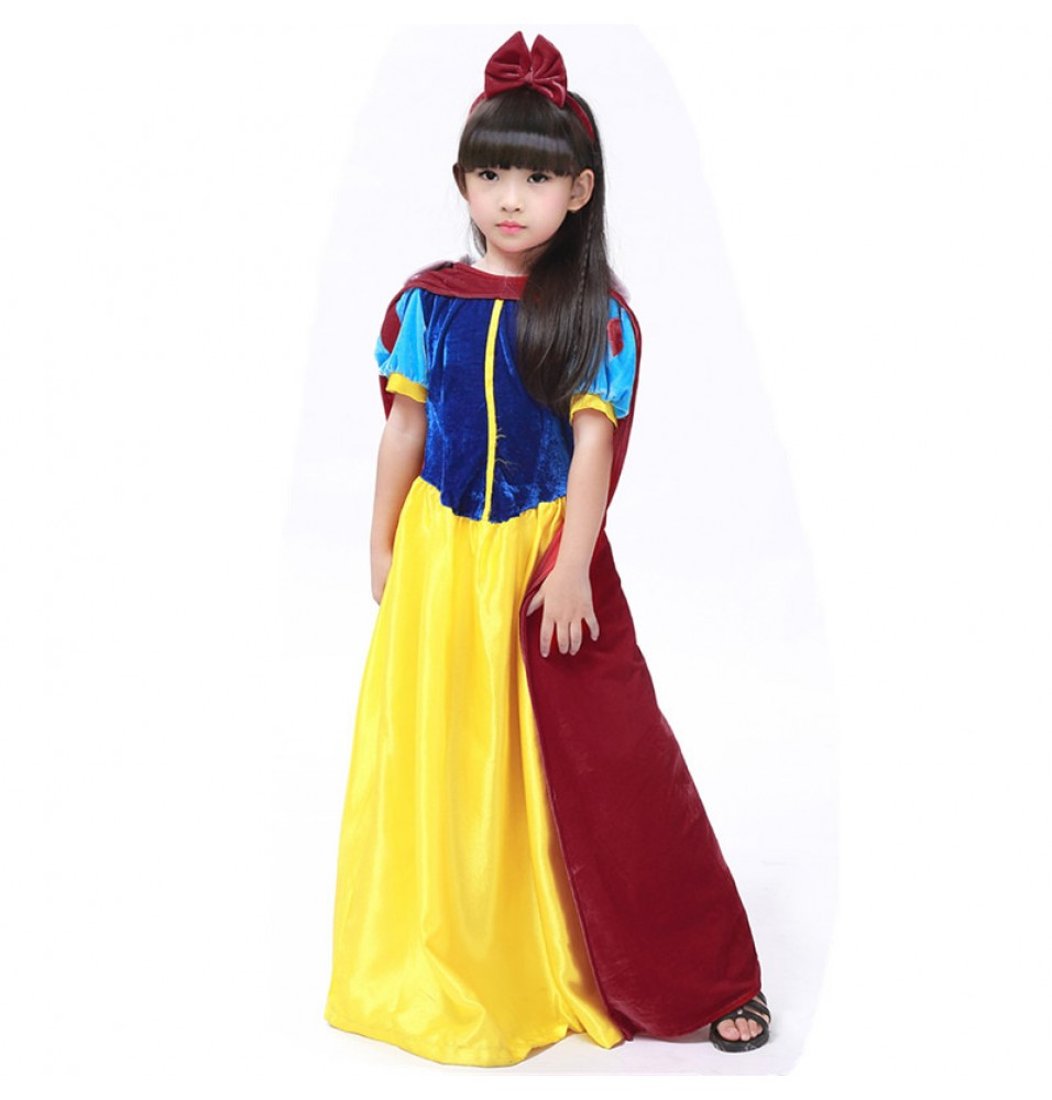Disney Snow White Princess Girls Dress Costume For Kids