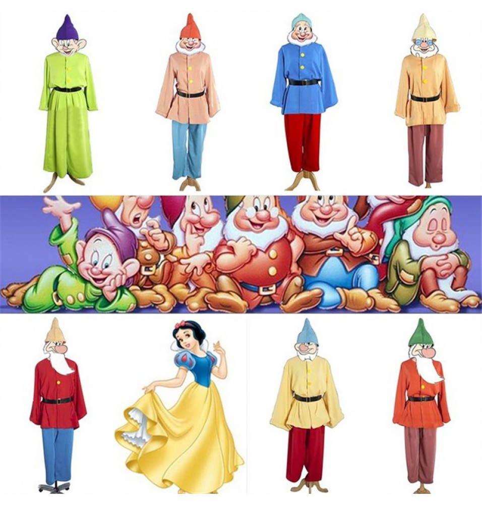 Disney Snow White Seven Dwarfs Cosplay Costumes