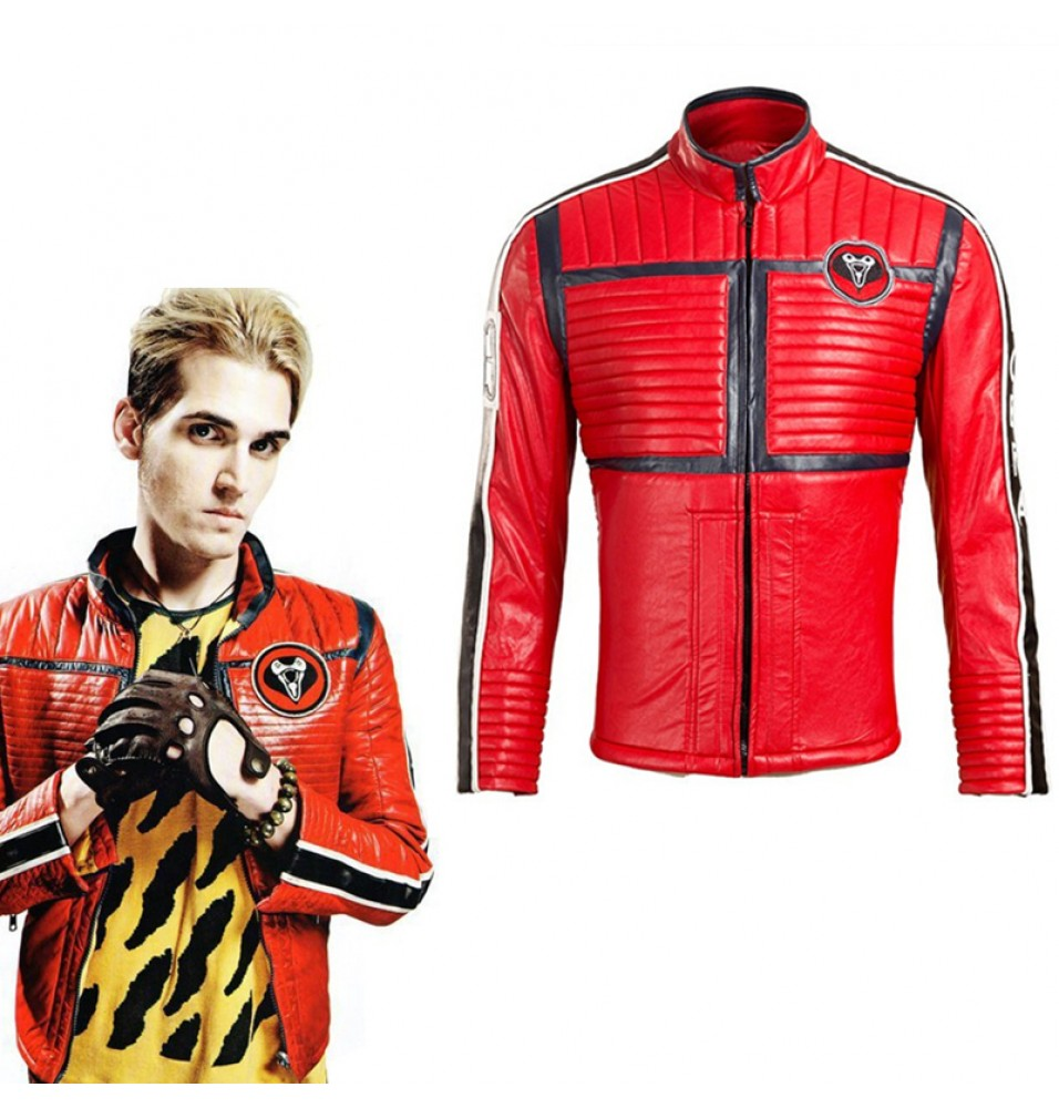Fashion My Chemical Romance Bass Mikey Way Cosplay Costume Punk Jacket
