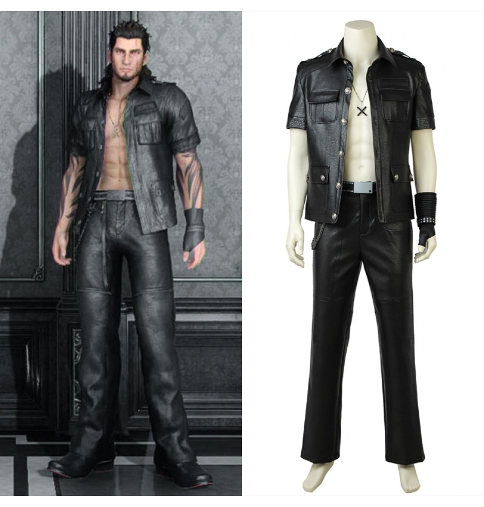 Final Fantasy XV Gladiolus Amicitia Cosplay Costume Deluxe Outfit