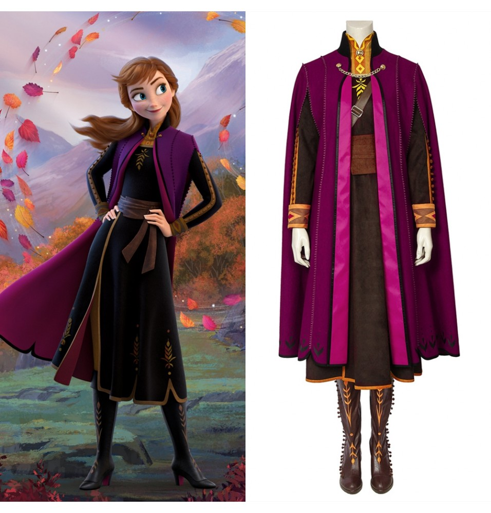 Frozen 2 Anna Costume Deluxe Cosplay