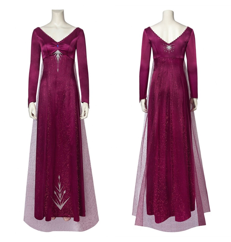 Frozen 2 Elsa Cosplay Dress Purple Dress