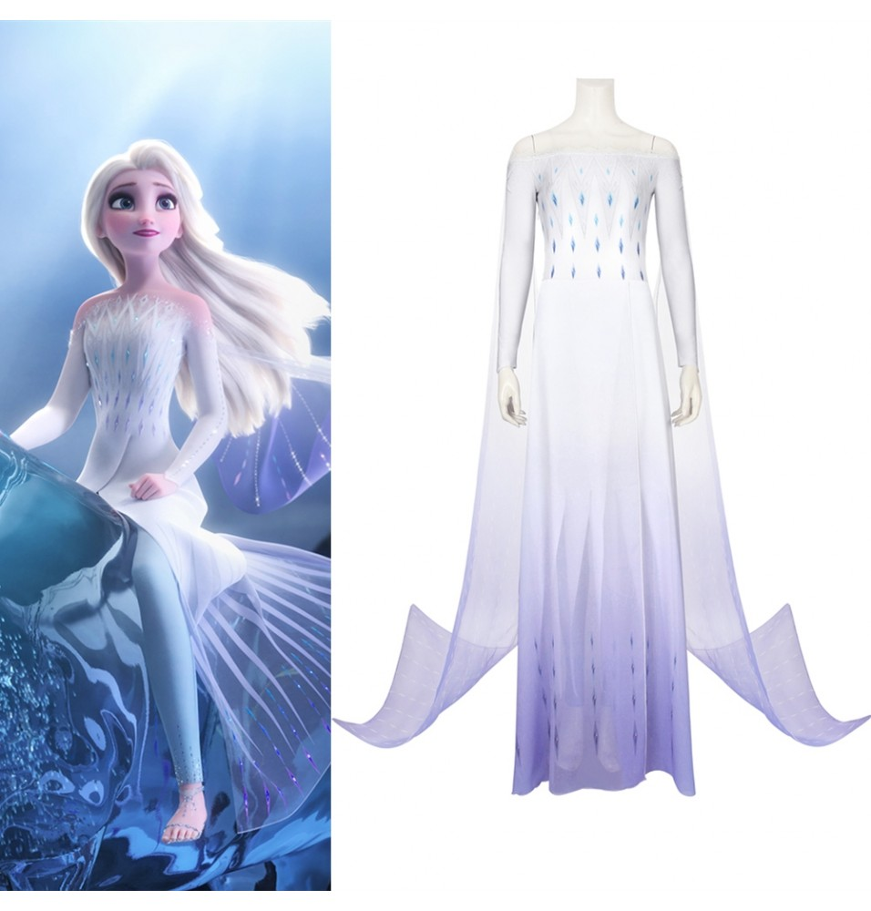 Frozen 2 Elsa Cosplay Dress White Dress