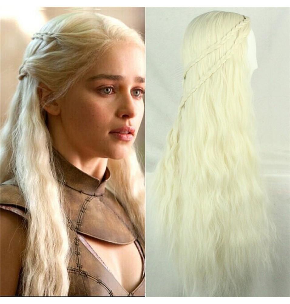 Game of Thrones Daenerys Targaryen Long Curly Wigs Cosplay