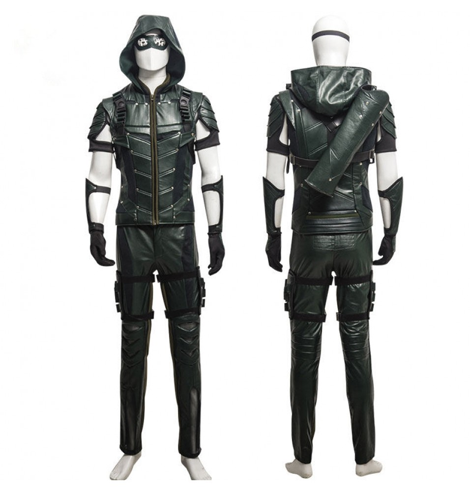 Arrow Season 4 Oliver Queen Cosplay Costume Deluxe Outfit