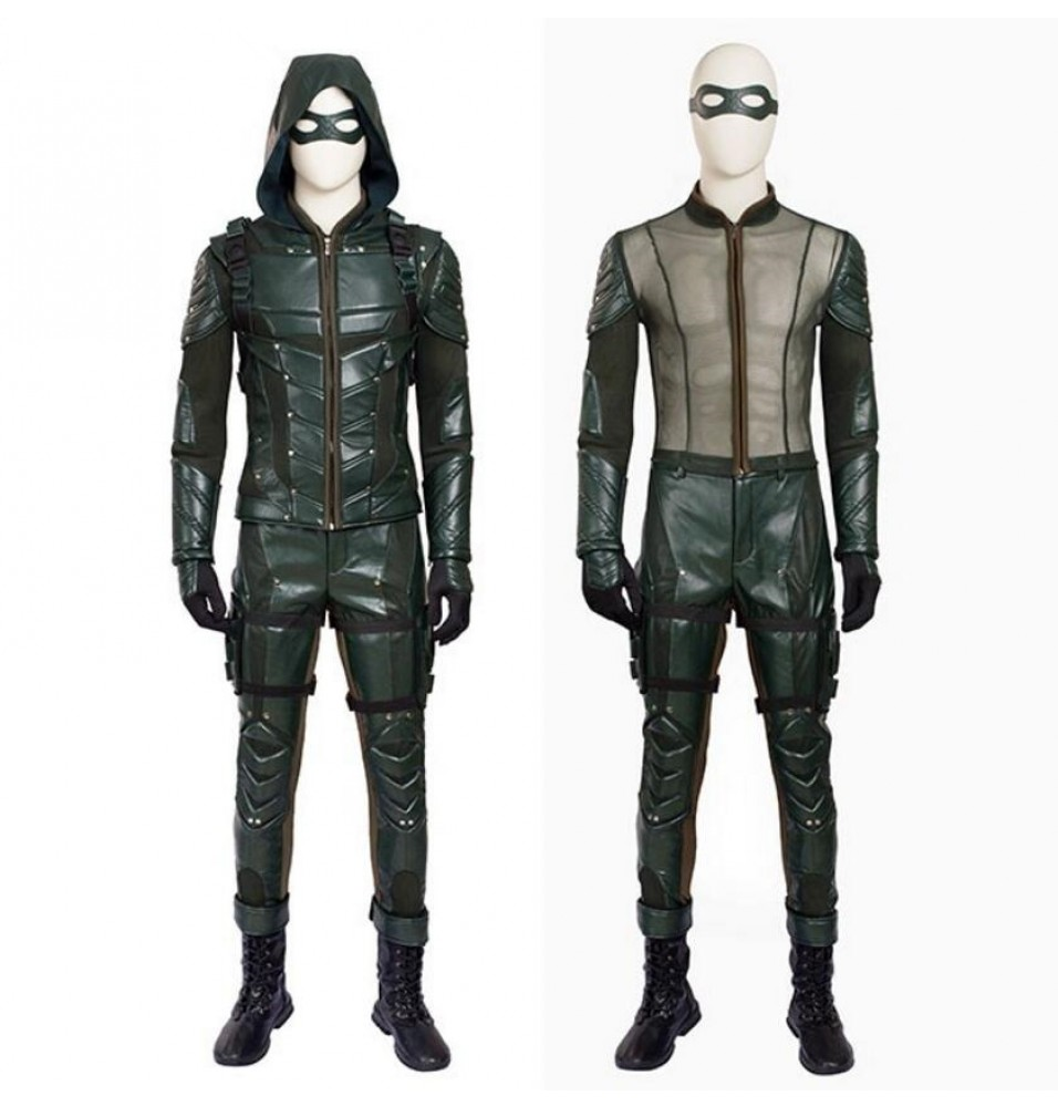 Arrow Season 5 Oliver Queen Cosplay Costume Outfit