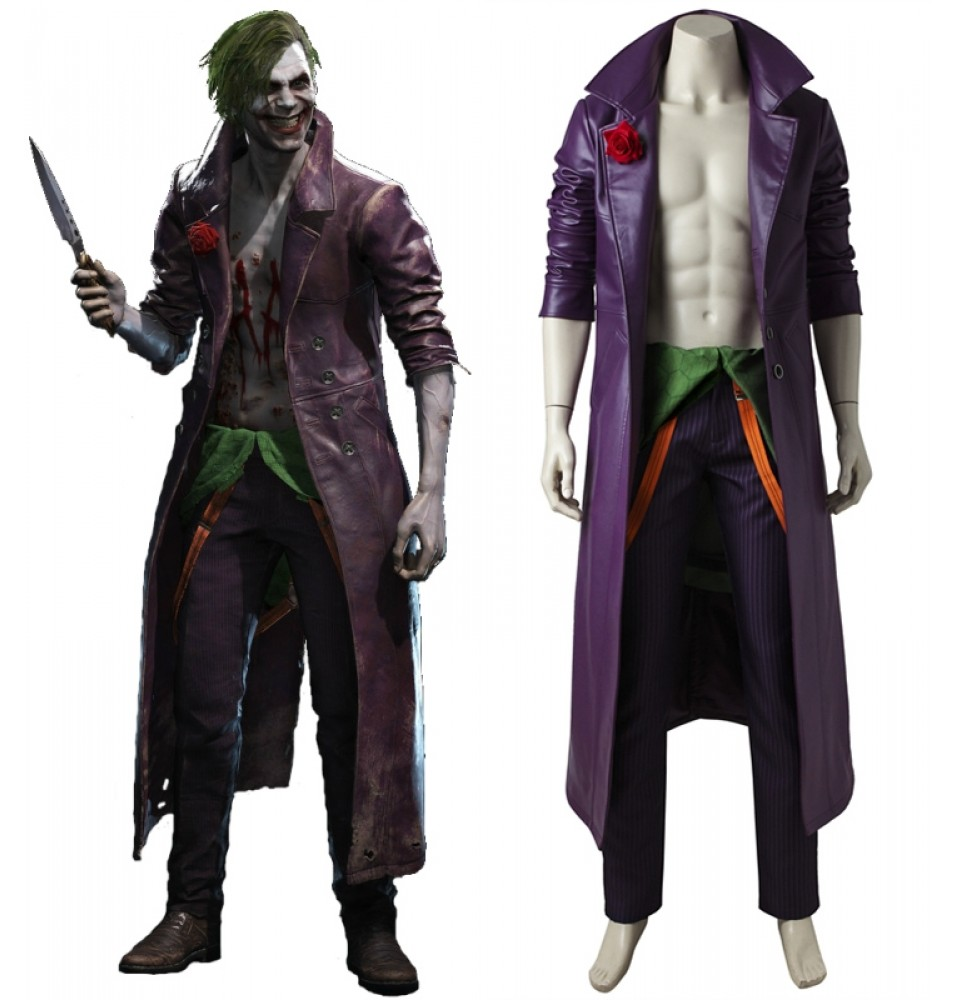Injustice 2 Joker Cosplay Costume Deluxe Version
