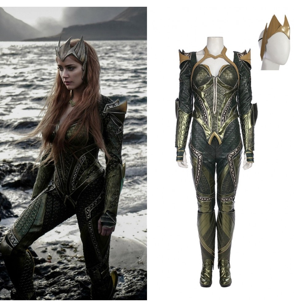 Justice League Mera Cosplay Costume Deluxe Outfit