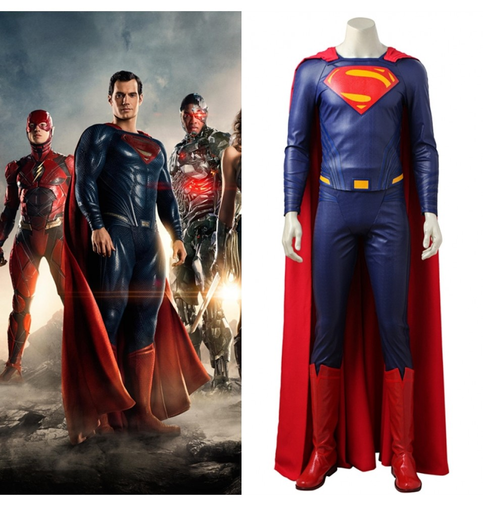 Justice League Superman Cosplay Costume Clark Kent Deluxe Costume