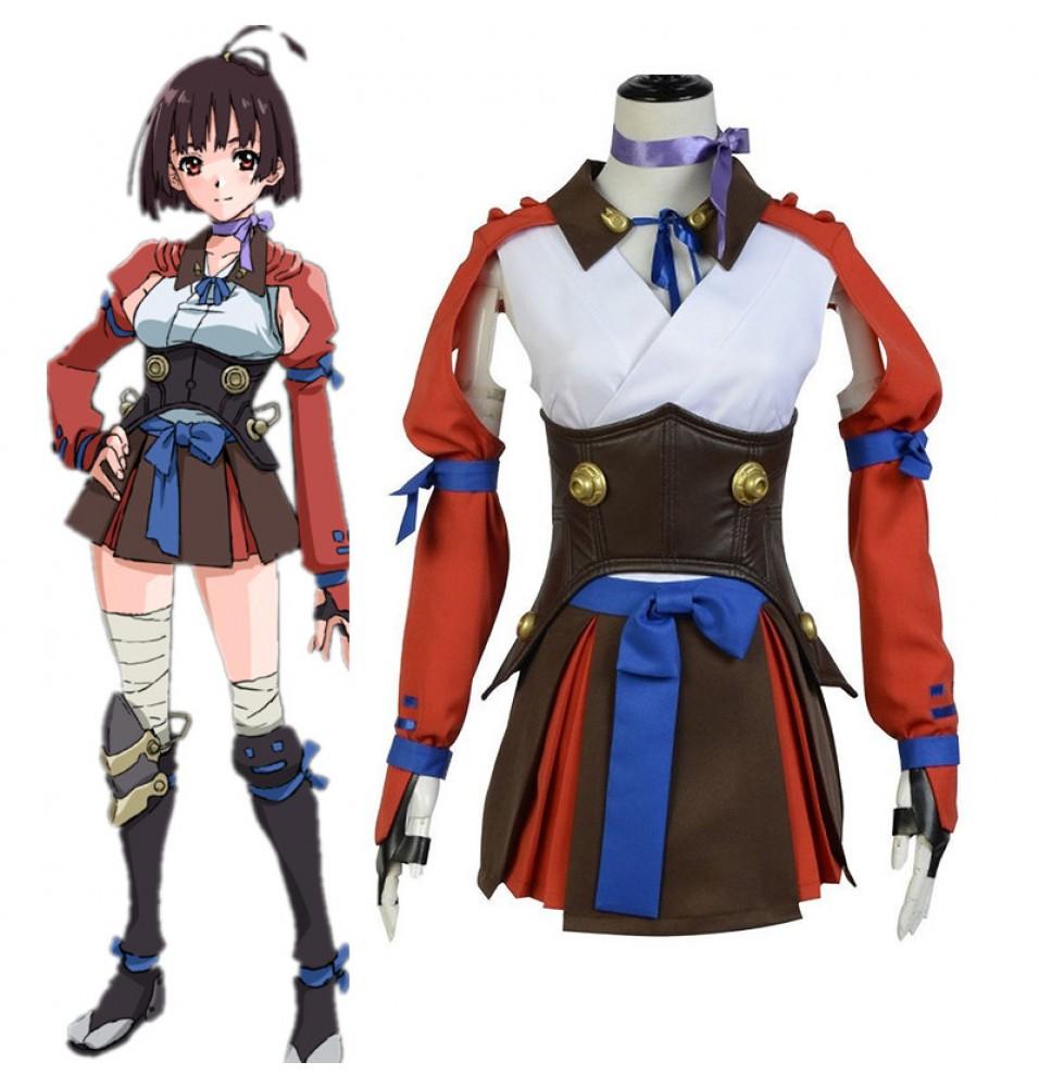 Kabaneri of the Iron Fortress Mumei Battle Dress Costume Cosplay