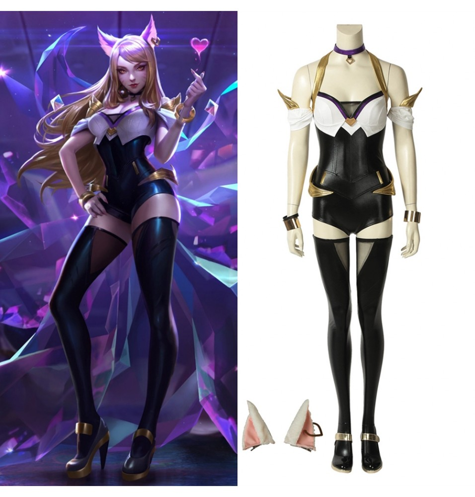 League of Legends LOL KDA Ahri Cosplay Costume