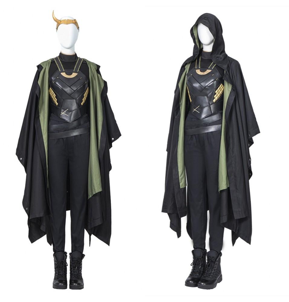 Loki Season 1 Sylvie Variant Female Loki Cosplay Costume