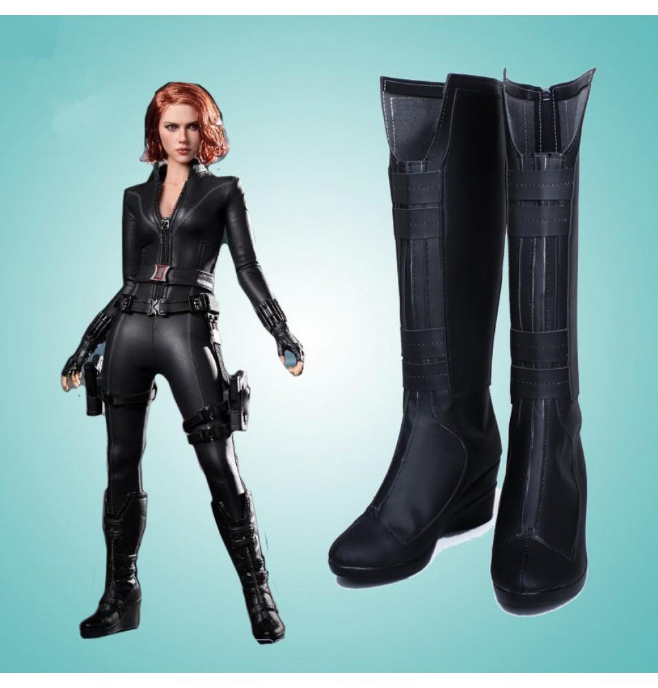 Black Widow Cosplay Boots Halloween Shoes