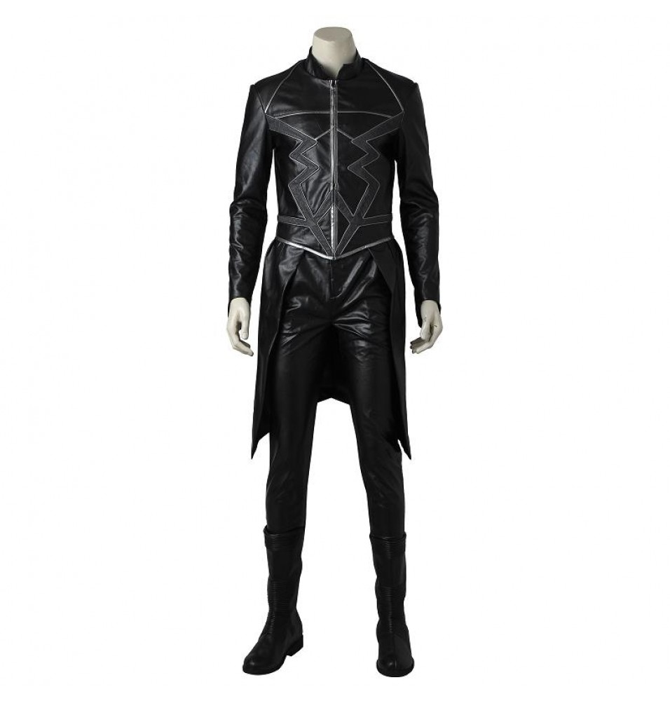 Marvel Inhumans Black Bolt Cosplay Costume Outfit