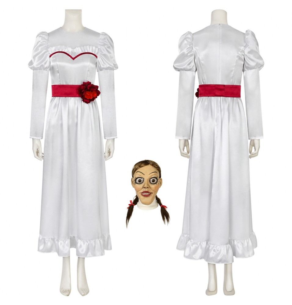 Movie Annabelle Mia Dress Cosplay Costume