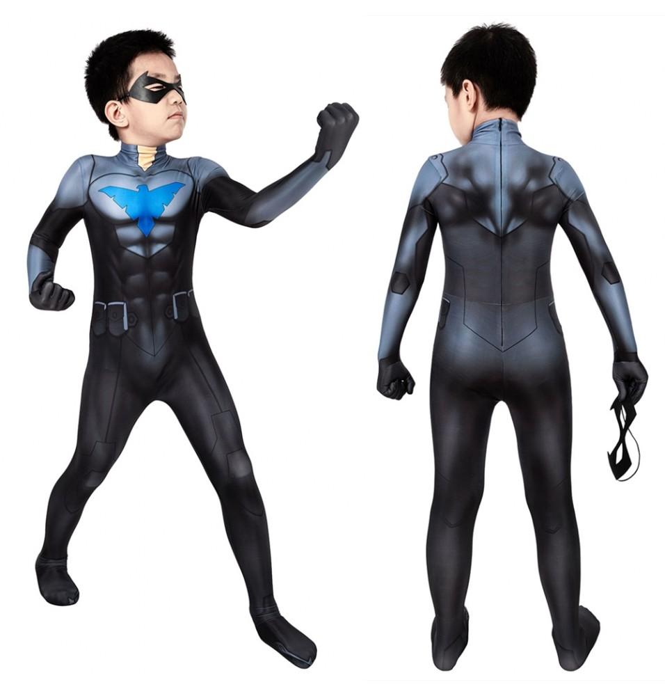 Nightwing Son of Batman Kids 3D Jumpsuit