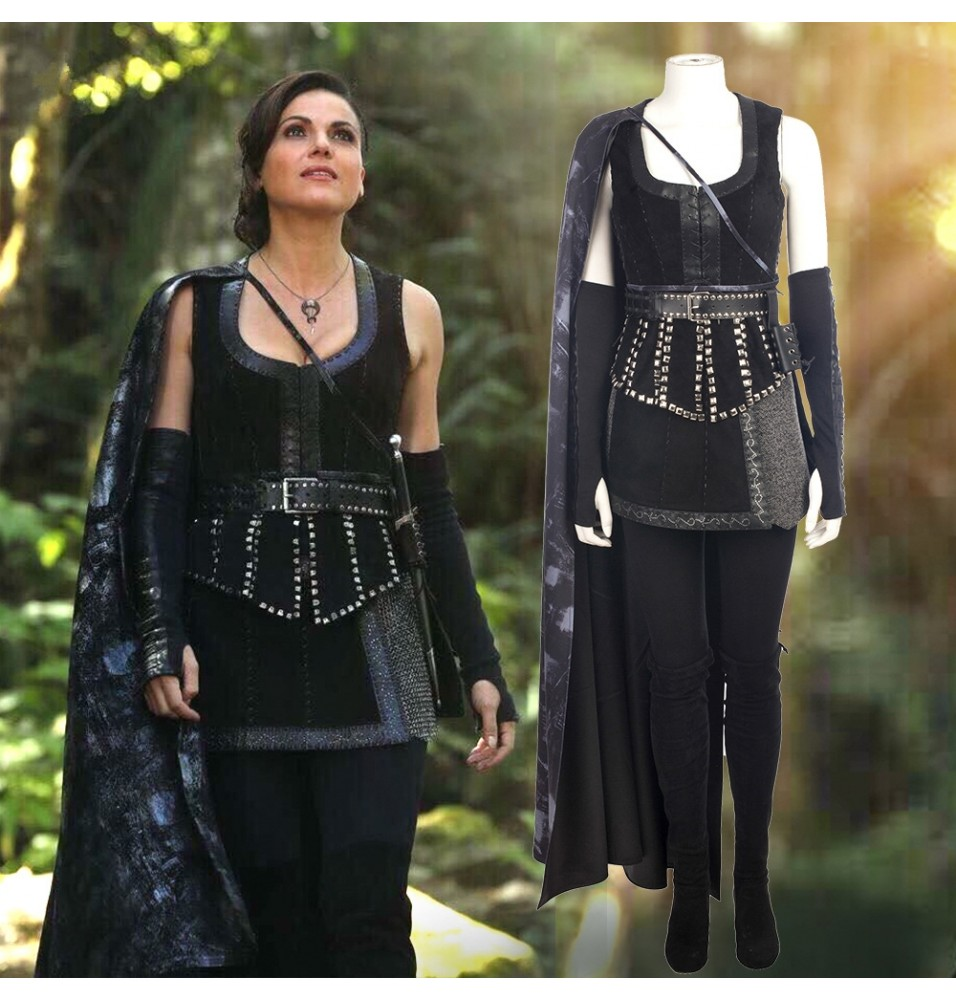 Once Upon a Time Evil Queen Regina Mills Cosplay Costume Deluxe