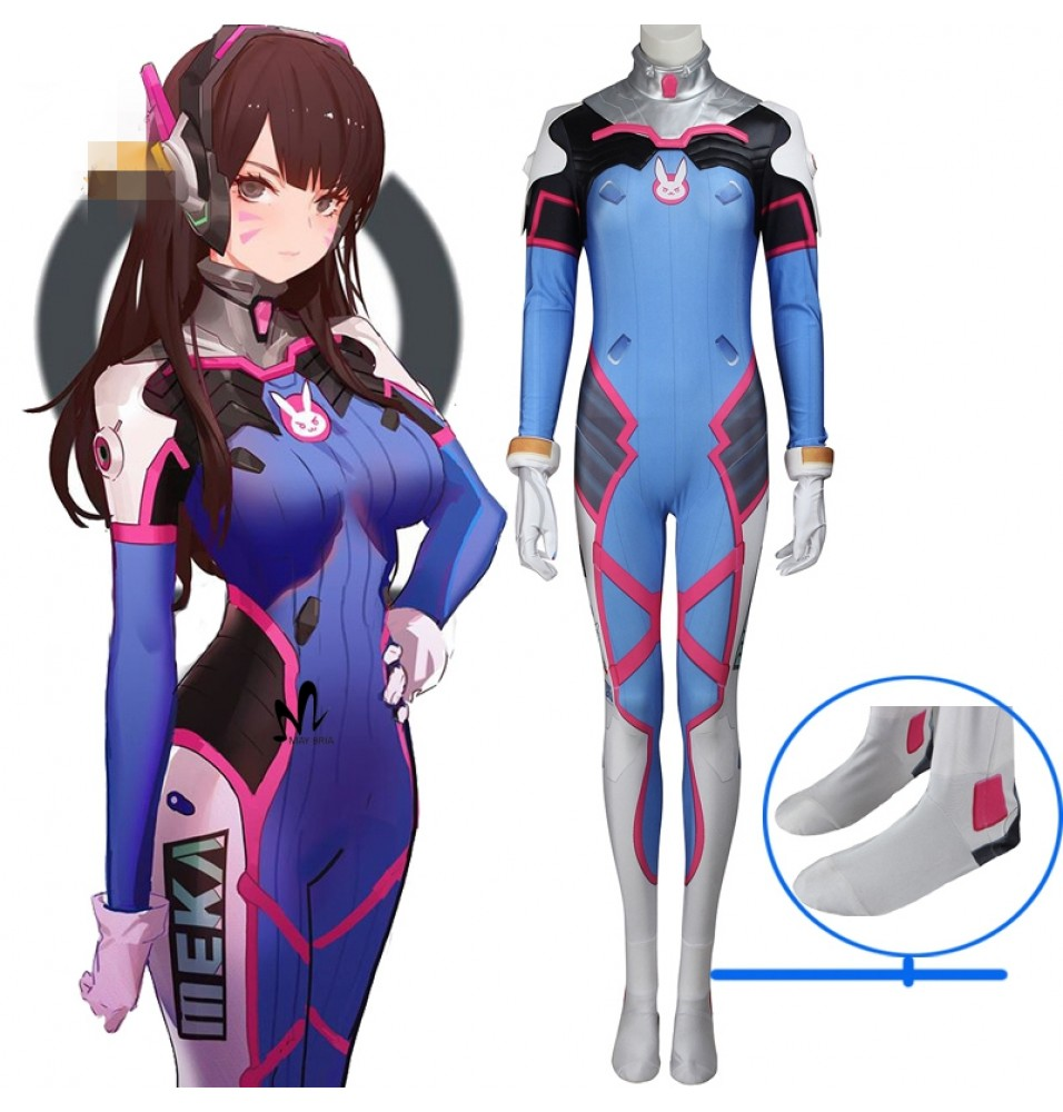 Overwatch D.Va DVA Hana Song Cosplay Costume Deluxe